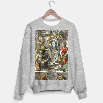Thumbnail image of Old Cartographic Map Line Art Sweater regular, Live Heroes