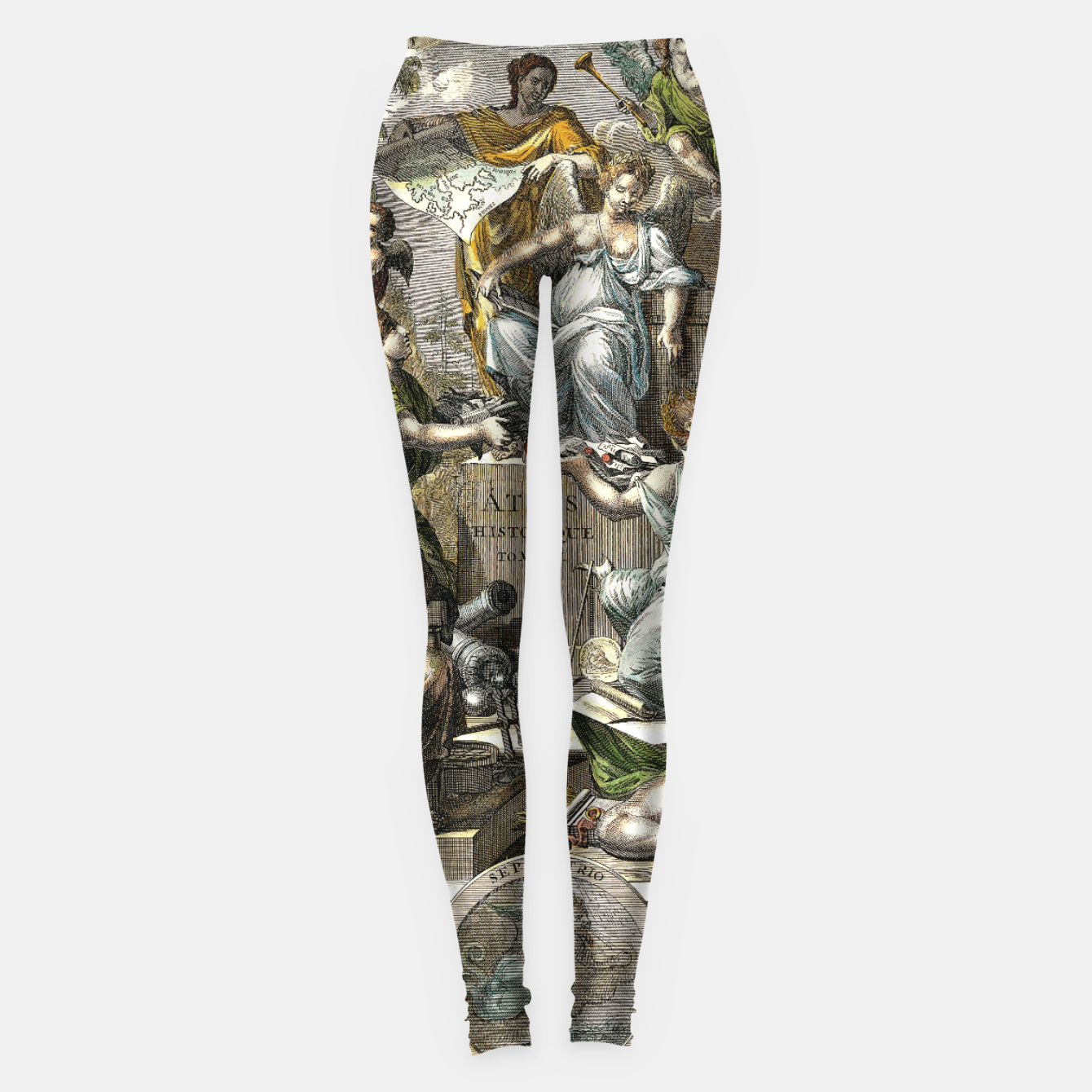 Foto Old Cartographic Map Line Art Leggings - Live Heroes
