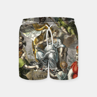 Thumbnail image of Old Cartographic Map Line Art Swim Shorts, Live Heroes