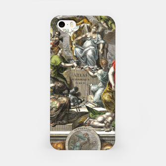 Thumbnail image of Old Cartographic Map Line Art iPhone Case, Live Heroes