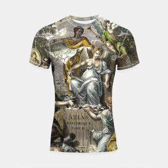 Thumbnail image of Old Cartographic Map Line Art Shortsleeve rashguard, Live Heroes