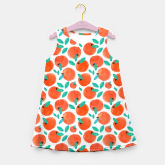 Thumbnail image of Coral Fruit Girl's summer dress, Live Heroes