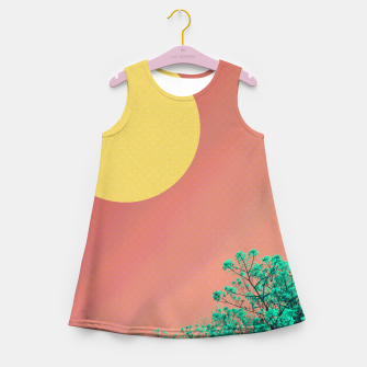 Thumbnail image of Sky and flowers 2 Girl's summer dress, Live Heroes
