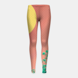 Thumbnail image of Sky and flowers 2 Girl's leggings, Live Heroes