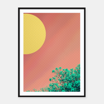 Thumbnail image of Sky and flowers 2 Framed poster, Live Heroes