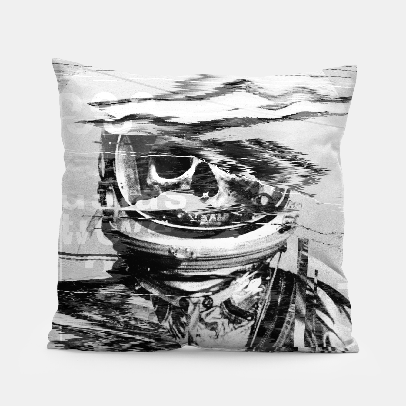 Image of Astro Skull Pillow - Live Heroes