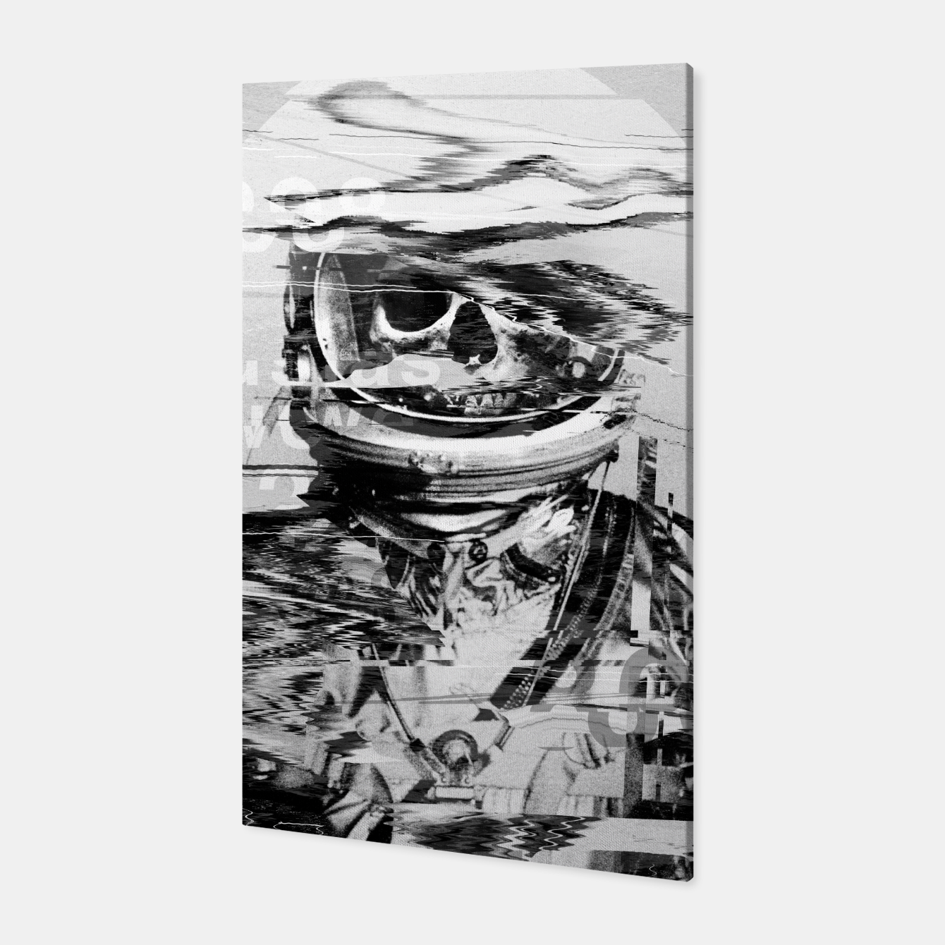 Image of Astro Skull Canvas - Live Heroes