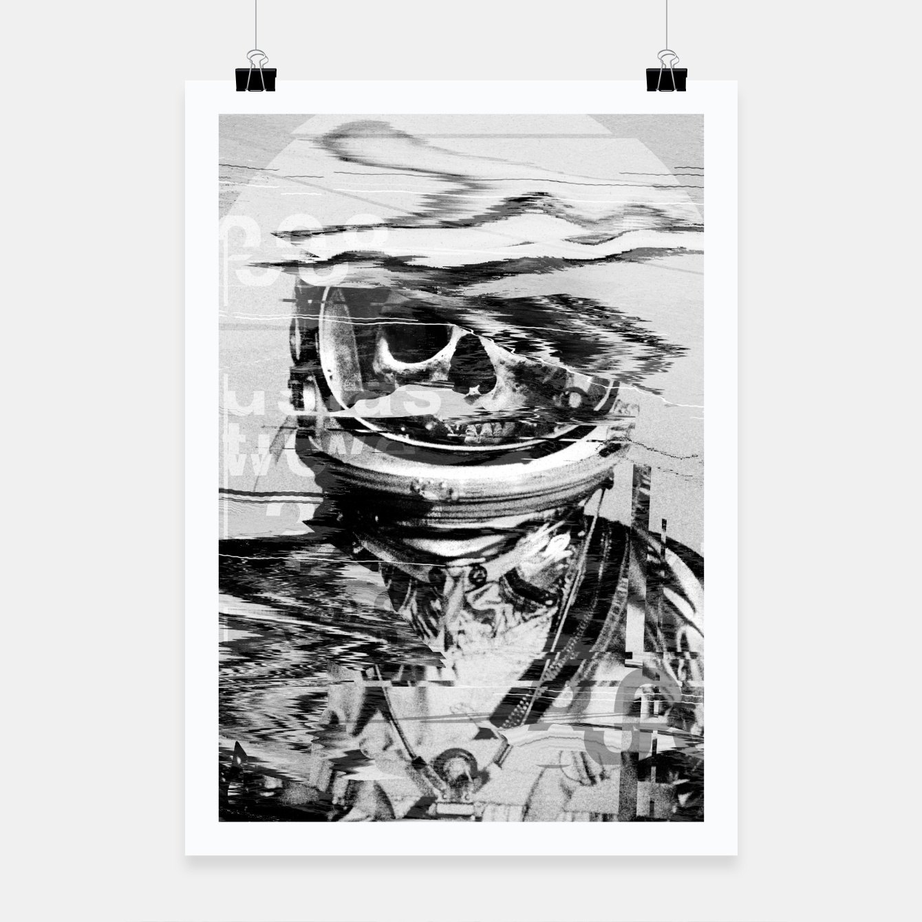 Image of Astro Skull Poster - Live Heroes