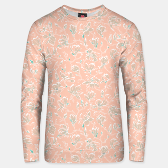 Thumbnail image of Snowy Magnolias at Dawn Unisex sweater, Live Heroes