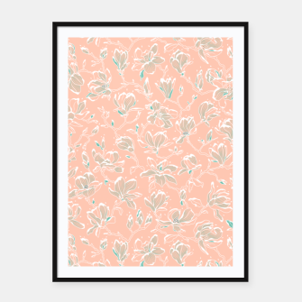 Thumbnail image of Snowy Magnolias at Dawn Framed poster, Live Heroes