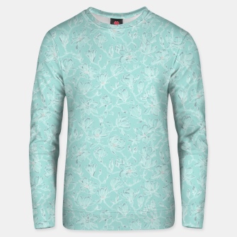 Thumbnail image of Misty White Frozen Magnolias  Unisex sweater, Live Heroes