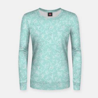 Thumbnail image of Misty White Frozen Magnolias  Women sweater, Live Heroes