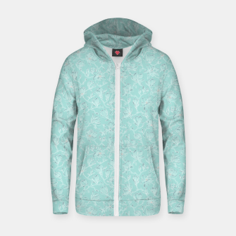 Thumbnail image of Misty White Frozen Magnolias  Zip up hoodie, Live Heroes