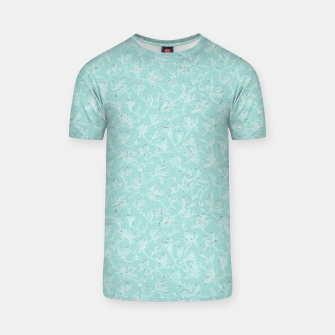 Thumbnail image of Misty White Frozen Magnolias  T-shirt, Live Heroes