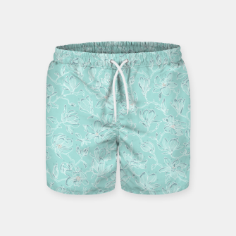 Thumbnail image of Misty White Frozen Magnolias  Swim Shorts, Live Heroes