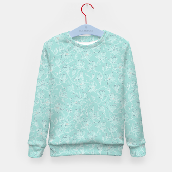 Thumbnail image of Misty White Frozen Magnolias  Kid's sweater, Live Heroes