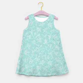 Thumbnail image of Misty White Frozen Magnolias  Girl's summer dress, Live Heroes