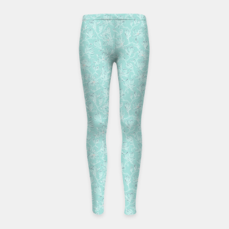 Thumbnail image of Misty White Frozen Magnolias  Girl's leggings, Live Heroes