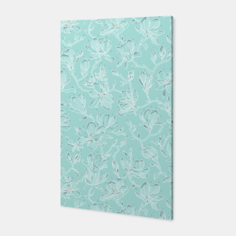 Thumbnail image of Misty White Frozen Magnolias  Canvas, Live Heroes
