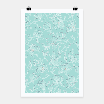 Thumbnail image of Misty White Frozen Magnolias  Poster, Live Heroes