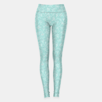 Thumbnail image of Misty White Frozen Magnolias  Leggings, Live Heroes
