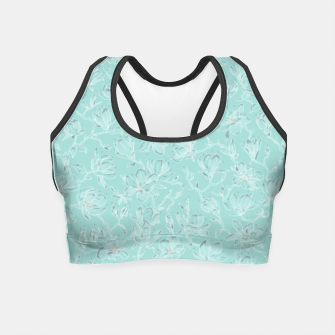 Thumbnail image of Misty White Frozen Magnolias  Crop Top, Live Heroes