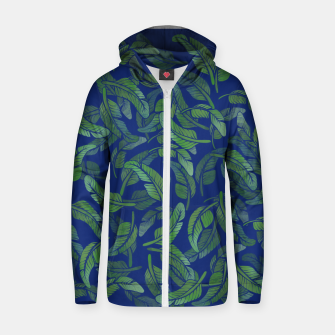 Thumbnail image of Palm Leaf Zip up hoodie, Live Heroes