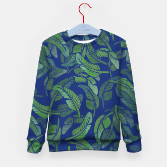 Thumbnail image of Palm Leaf Kid's sweater, Live Heroes