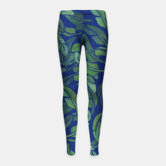 Thumbnail image of Palm Leaf Girl's leggings, Live Heroes