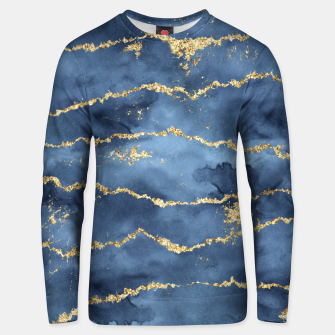 Thumbnail image of Gold Veined Watercolor Design Unisex sweatshirt, Live Heroes