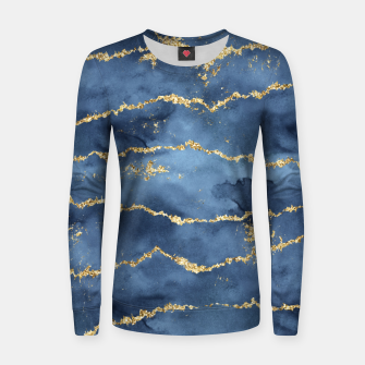 Thumbnail image of Gold Veined Watercolor Design Frauen sweatshirt, Live Heroes