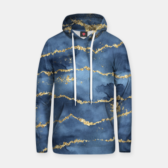 Thumbnail image of Gold Veined Watercolor Design Kapuzenpullover, Live Heroes
