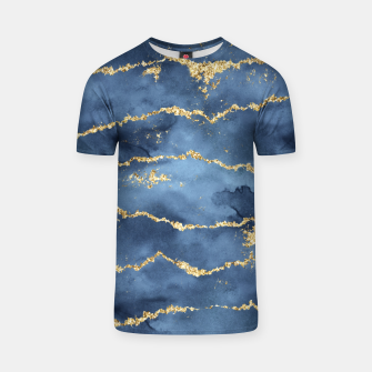 Thumbnail image of Gold Veined Watercolor Design T-Shirt, Live Heroes