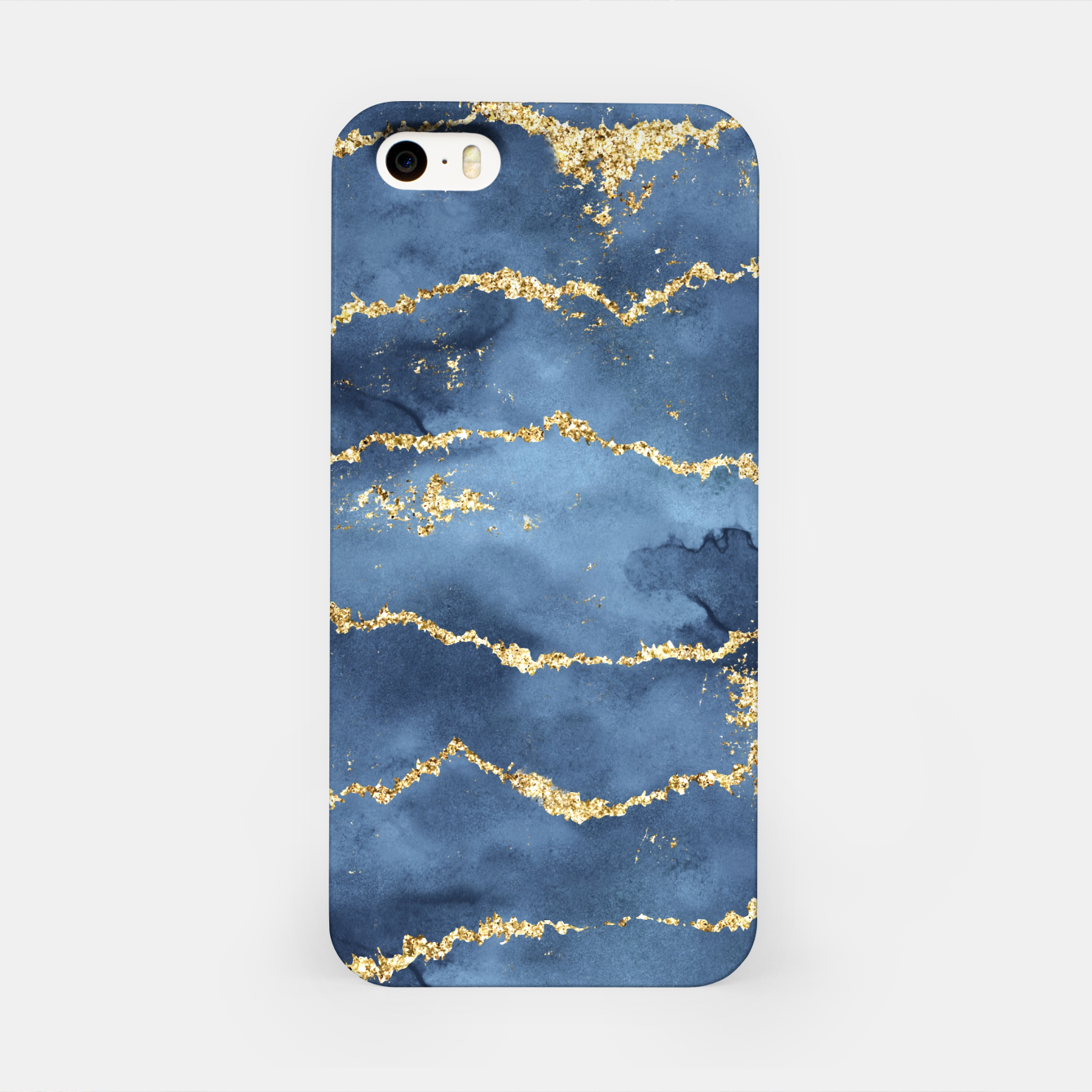 Image of Gold Veined Watercolor Design iPhone-Hülle - Live Heroes