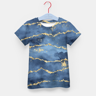 Thumbnail image of Gold Veined Watercolor Design T-Shirt für kinder, Live Heroes