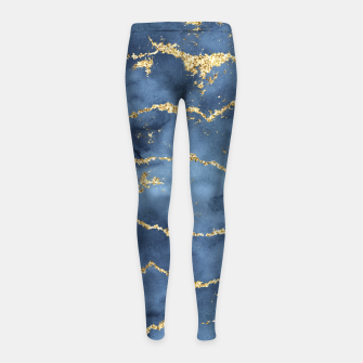 Thumbnail image of Gold Veined Watercolor Design Kinder-Leggins, Live Heroes