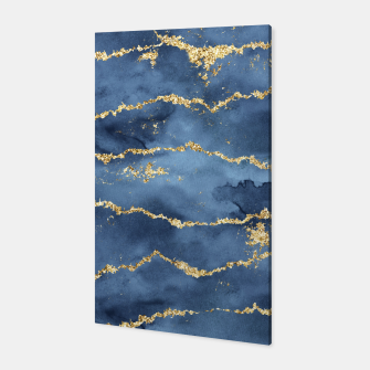 Thumbnail image of Gold Veined Watercolor Design Canvas, Live Heroes
