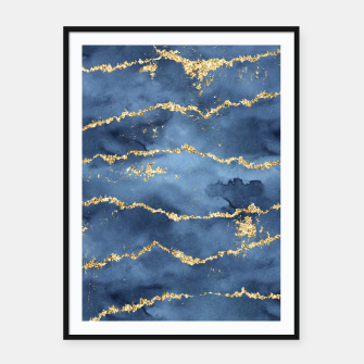 Thumbnail image of Gold Veined Watercolor Design Plakat mit rahmen, Live Heroes