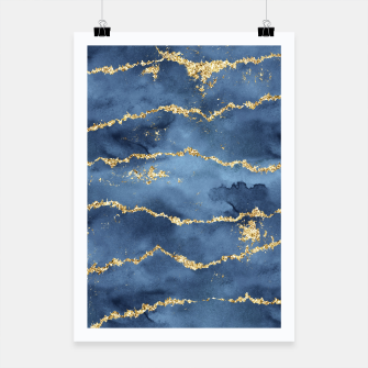 Thumbnail image of Gold Veined Watercolor Design Plakat, Live Heroes
