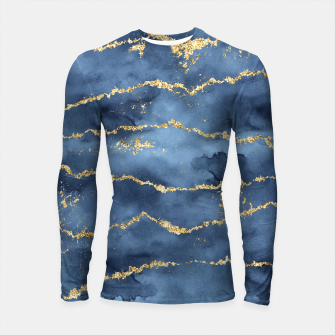 Thumbnail image of Gold Veined Watercolor Design Longsleeve rashguard, Live Heroes