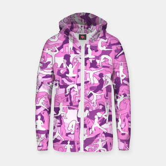 Thumbnail image of Yoga Harmony Camo PINK Zip up hoodie, Live Heroes