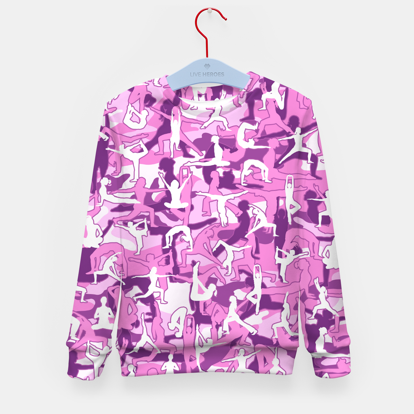Image of Yoga Harmony Camo PINK Kid's sweater - Live Heroes