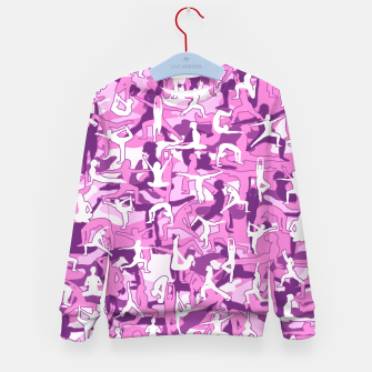 Thumbnail image of Yoga Harmony Camo PINK Kid's sweater, Live Heroes