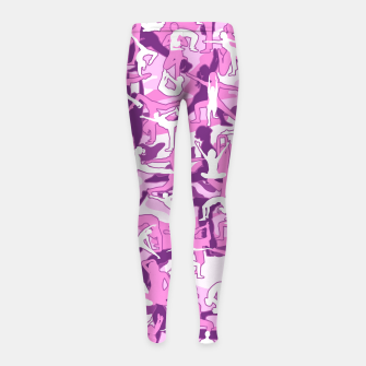 Thumbnail image of Yoga Harmony Camo PINK Girl's leggings, Live Heroes