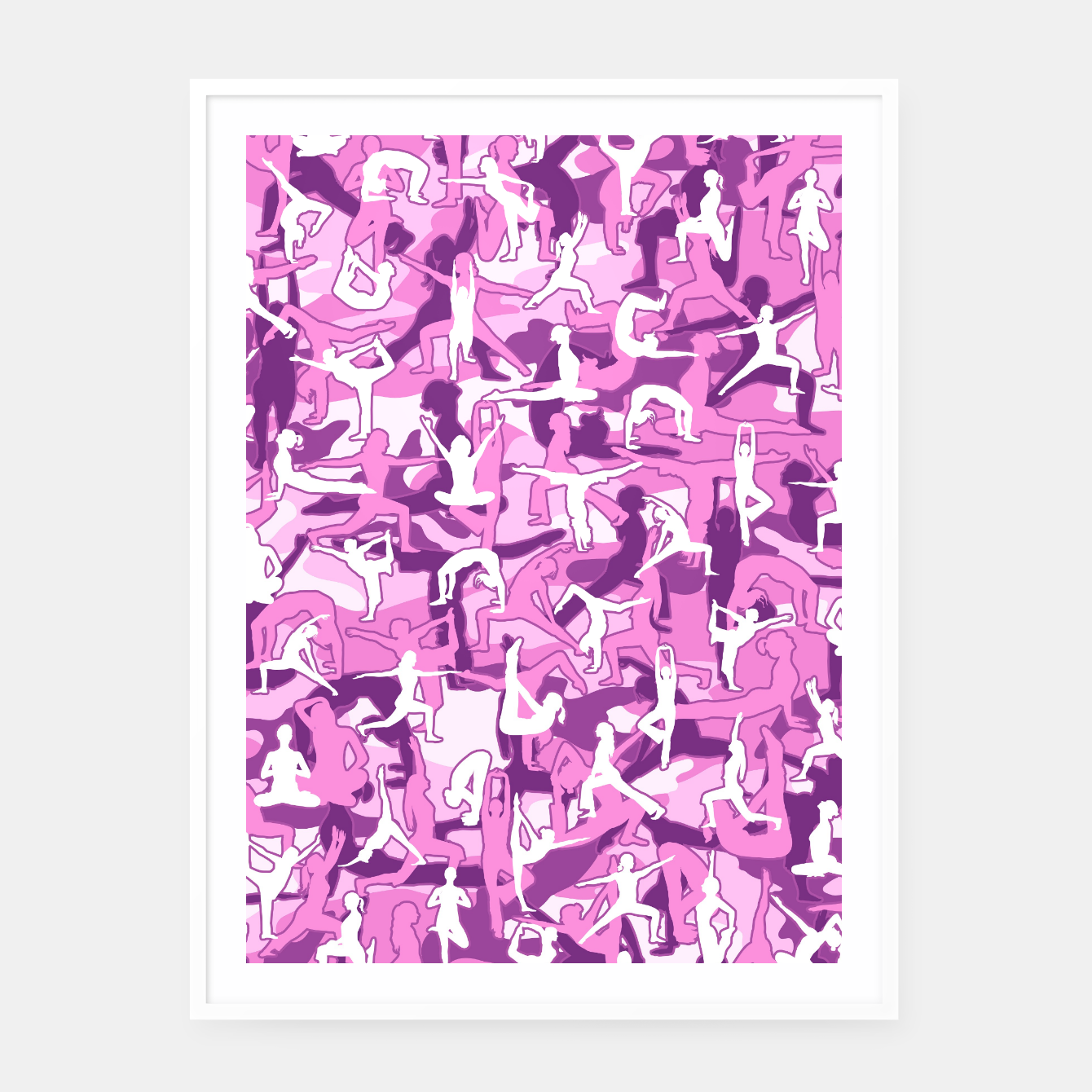 Image of Yoga Harmony Camo PINK Framed poster - Live Heroes