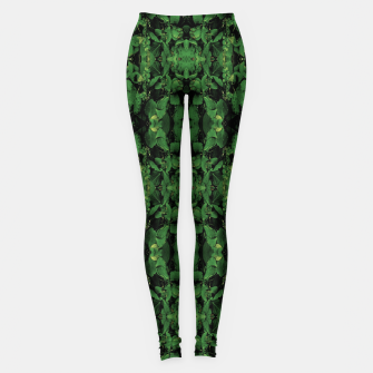 Miniature de image de Dark Nature Collage Print Leggings, Live Heroes