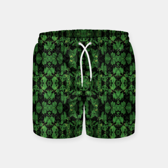 Miniature de image de Dark Nature Collage Print Swim Shorts, Live Heroes