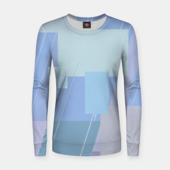Thumbnail image of Rectangles in heather Women sweater, Live Heroes