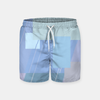 Thumbnail image of Rectangles in heather Swim Shorts, Live Heroes