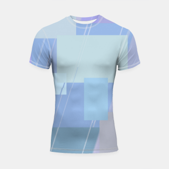Thumbnail image of Rectangles in heather Shortsleeve rashguard, Live Heroes